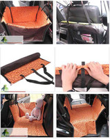 Wholesale Pet Dog Car Waterproof Oxford Rear Single Seat Cover Mat Blanket Orange Green x58x36cm