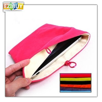 Wholesale Flannel Sleeve For Carry case Fabric Pouch Cloth Bag Protective Case Multi Colors EB113