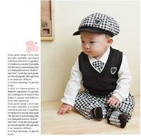 Wholesale 2013 children s clothing new baby boy suit kid s piece sets Institute of wind suits