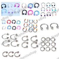 Unisex Stainless Steel Navel & Bell Button Rings 150X Mixed Lot Fashion Body Piercing Jewelry Tongue Lip Eyebrow Rings Imixlot Body Jewellry
