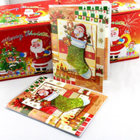 Wholesale 24pcs New Exquisite Christmas musical greeting cards d paper greeting cards Family Pack
