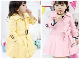 Wholesale Girl s outerwear Girl s Windproof coat Sweater jacket Girl s Windproof with bow belt