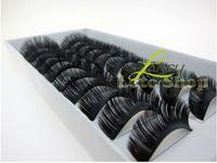 Wholesale HOT Fashion Natural Human Hair Thick Fake False Eyelashes Handmade Pairs Box