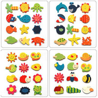 Wholesale Cute Wooden Cartoon Animal Magnetic Stickers SP P