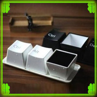 Wholesale x Keyboard Coffee Tea Plastic Mug Cup Home Art Decoration Ctrl Alt Del Cup Set