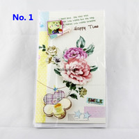 Wholesale DHL d paper greeting cards Flowers greeting cards for your Friends and girlfriend