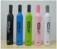 Wholesale DHL Color mixed Bottle Umbrella Fashion Umbrella Wine Bottle Umbrella Folding Umbrella