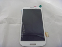 Wholesale S3 SIII I9300 Original Screen Display For SAMSUNG GALAXY S3 SIII I9300 White Digitizer LCD Screen