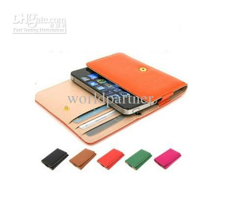 Buy 3General Wallet PU Leather case iphone 3 4 4S Samsung Galaxy s2 s3 i9100 HTC G7 Nokia N8 N9