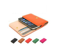 Wholesale 30pcs General Wallet PU Leather case for iphone S Samsung Galaxy s2 s3 i9100 HTC G7 Nokia N8 N9