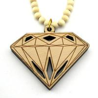 Unisex hip hop jewelry - WOOD Necklace GOOD NYC Hip hop Qualities Diamond Beaded rosary Lucky jewelry LK2195 Q