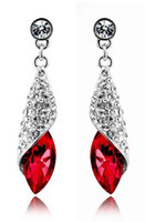 Wholesale factory price hot elegant more colors crystal earrings wreath chandelier dangle earrings