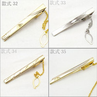 Wholesale 25pcs Solid Brass Assorted Silver Gold Tie Clips Men Elegant Dress Wedding Suit Tie Bar Clasps Pin