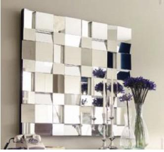 mr 201135 modern mirrored wall decor with angled face design - Wall Decor Mirrors