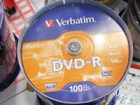 4.7GB dvd media - DVDs a spindle Verbatim GB MIN X DVD R DVD R BLANK MEDIA DISC