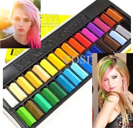 Wholesale Chalk Hair Temporary Hair Chalk Color Dye Pastel Chalk Bug Rub Soft Fencai Bar Pieces set