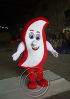 Wholesale Lovely White Red Dental Cream Mascot Costumes Halloween Costume Outfit Fancy Dress Suit Adult Size