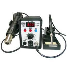Wholesale FEDEX UPS DHL ATTEN AT8586 Advanced Hot Air Soldering Station SMD Rework Station W