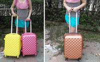 Wholesale Men and Women ABS lovely pole box luggage suitcase hg