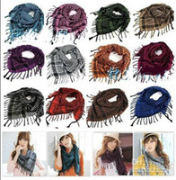 Square cotton square scarf - Houndstooth Scarf high quality Men and women scarves neckerchief Shawl scarf color