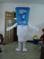 Wholesale Lovely Crest Dental Cream Image Mascot Costumes Halloween Costume Outfit Fancy Dress Suit Adult Size