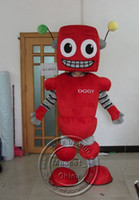 Unisex adult robot costume - Lovely Red Robot Character Mascot Costumes Halloween Costume Outfit Fancy Dress Suit Adult Size