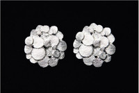 Wholesale new charming silver flower fashion earring