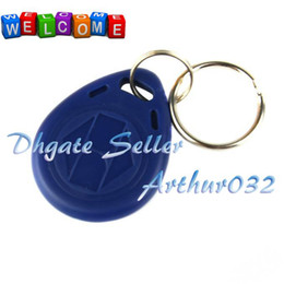 Wholesale NEW KHz Programmable Writable Proximity RFID ID Keychain Mifare for Access Control Blue amp Red