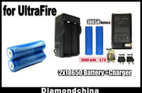 Wholesale ON Sale mAh V Rechargeable Li ion Battery Charger for Ultrafire Flashlight
