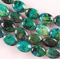 azurite beads - Huge beautiful mm mm Azurite Chrysocolla Oval Gemstone Loose Beads inch