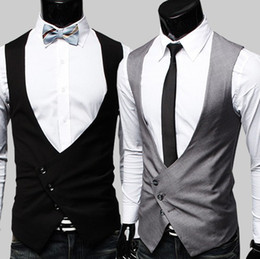 Wholesale 2012 New Hot Fashion Men s Vest Men s V neck Slim Vest