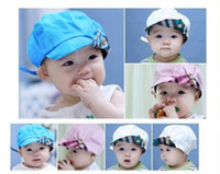 Summer baby newsboy hats - 5 New Fashion Baby Sun Hats Korean Style Newsboy Cap Baby berets Children cap