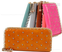 Wholesale 2012 fashion hot sale zero chain adornment purse card bag Mobile phone bag