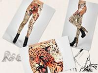Wholesale FashionTiger head pattern Funky Stretch Women Girl Leggings Tights Legwear Pants trousers feet
