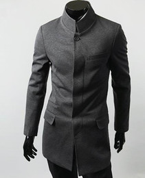 Wholesale 2012 New Hot Fashion Men s Coat Men s Slim Casual Concise Chinese tunic suit OverCoat Coat