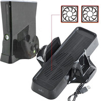 Wholesale new in Vertical Stand Support with Cooling Fan Heat Reduction for Xbox Slim