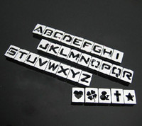 Wholesale 130pcs mm A Z Hollow Out Slide Letters DIY Accessories Fit Pet Collar