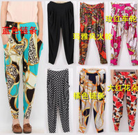 Wholesale New Women Colorful Harem Trousers Long Loose Casual Pants Harem Pants Harem lady s trousers