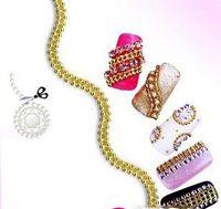 acrylic nail chains - 5M Gold Acrylic Tiny Beads Line Chain Shape Nail Art Tips Decoration New