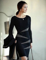 2012 New Fashion Dresses Work dress Plus size Bead embroider...