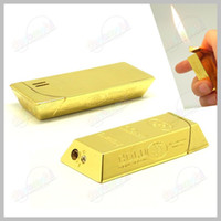 Wholesale Novelty Gold Bar Nugget Butane Gas Refillable Lighter retails sales