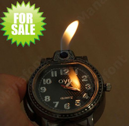 2 in 1 Leather Wrist Watch Design Refillable Butane Cigarette Gas Lighter Leather belt retail box