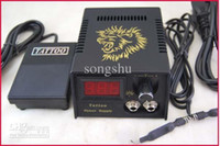 Wholesale Super Tattoo Power Supply System With Plug Foot Petal Clip Cord For Kit Machine Needles Supply ML012