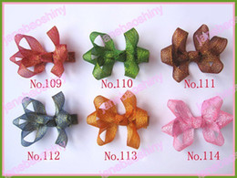 free shiping 45pcs 2.5'' fashion lotus hair bow clips mix color boutique hair bows girl hair clips