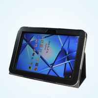Wholesale New arrival Folio stand PU Leather Case skin cover for Toshiba Regza AT500 inch tablet PC black