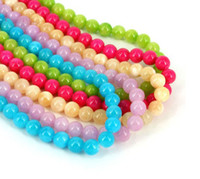 Wholesale 8mm round Multicolor jade gemstone loose Beads Beads DIY accessories Mixed color