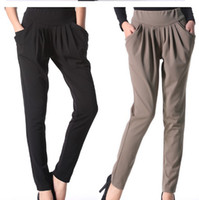 Wholesale 2012 Brand New Lycra solid color pant Korean slim casual pant women clothes lower garment