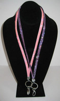 Wholesale hot Bling Bling Lanyard Crystal Rhinestone in neck with claw clasp ID Badge Holder for Mobile phone