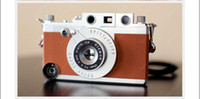 Wholesale Brown Retro Antique Leica Camera Shell Phone Case Skin Cover For iPhone4 iPhone4s