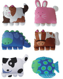 Wholesale Cute doomagic pillowcase Children s Nursery Bedding animal pillow cover kids Pillow shell animal designs